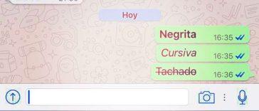 WhatsApp Negritas