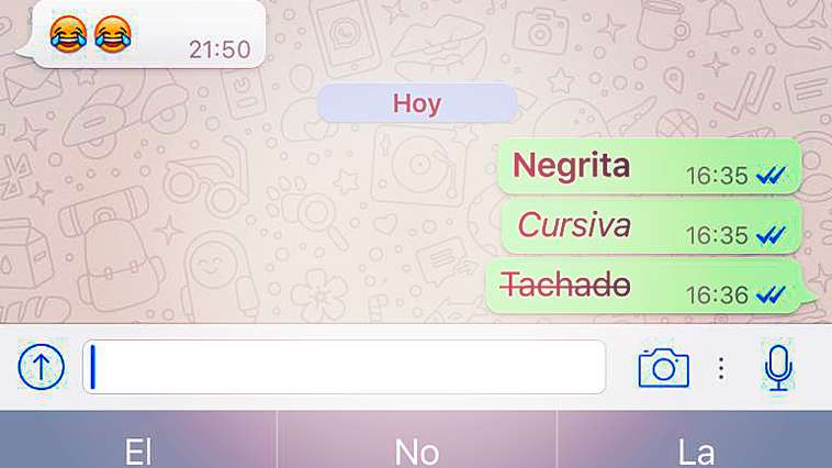 WhatsApp Negritas