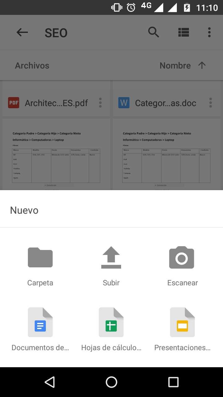 Escanear Google Drive