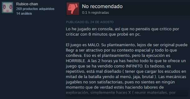 Opiniones No Man's Sky Steam